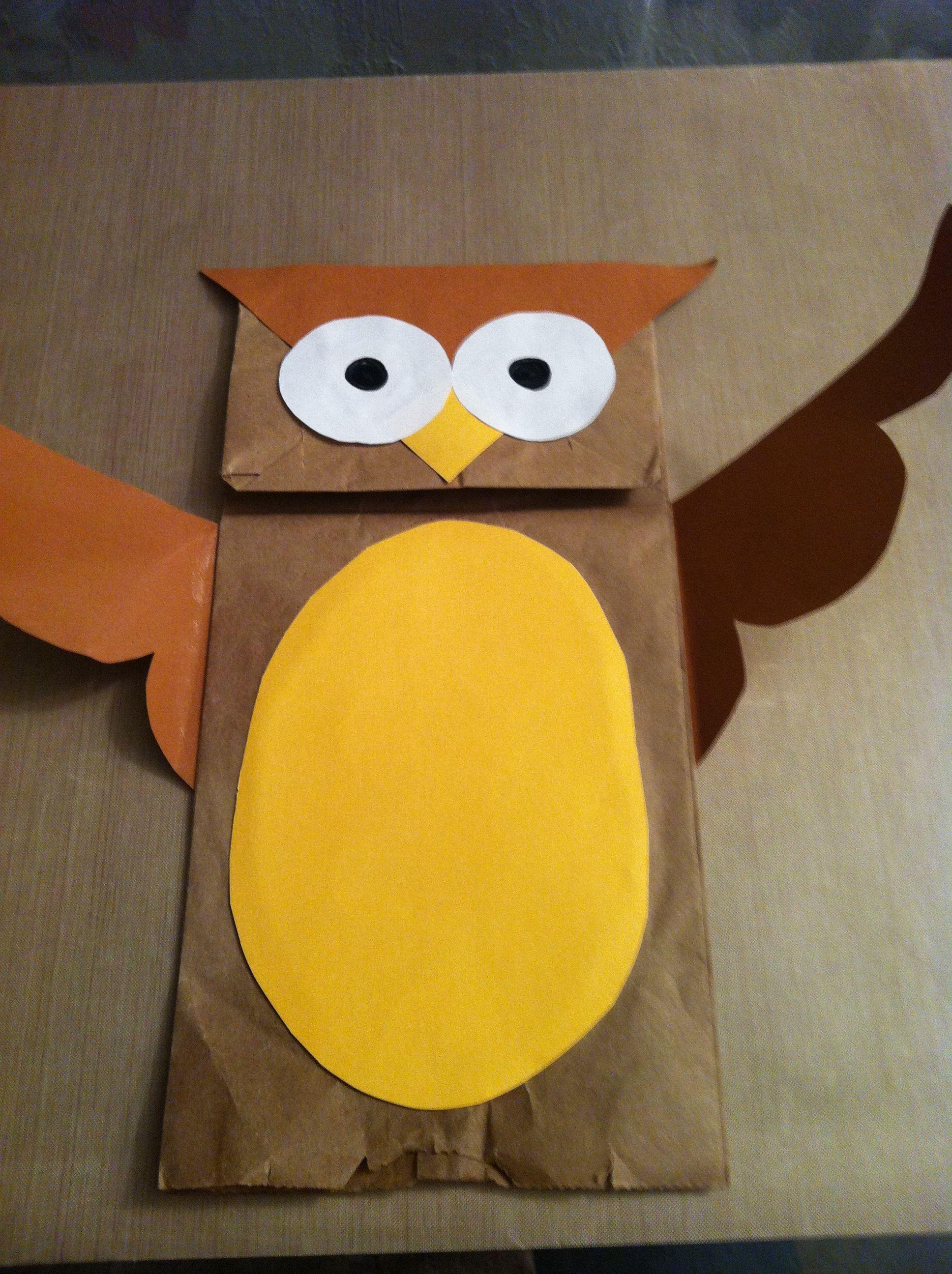 Paper Bag Owl Owl Crafts Preschool Paper Bag Crafts Owl
