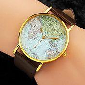 reloj mapa mundo patrón de bandas de la PU de... – MXN $ 56.90