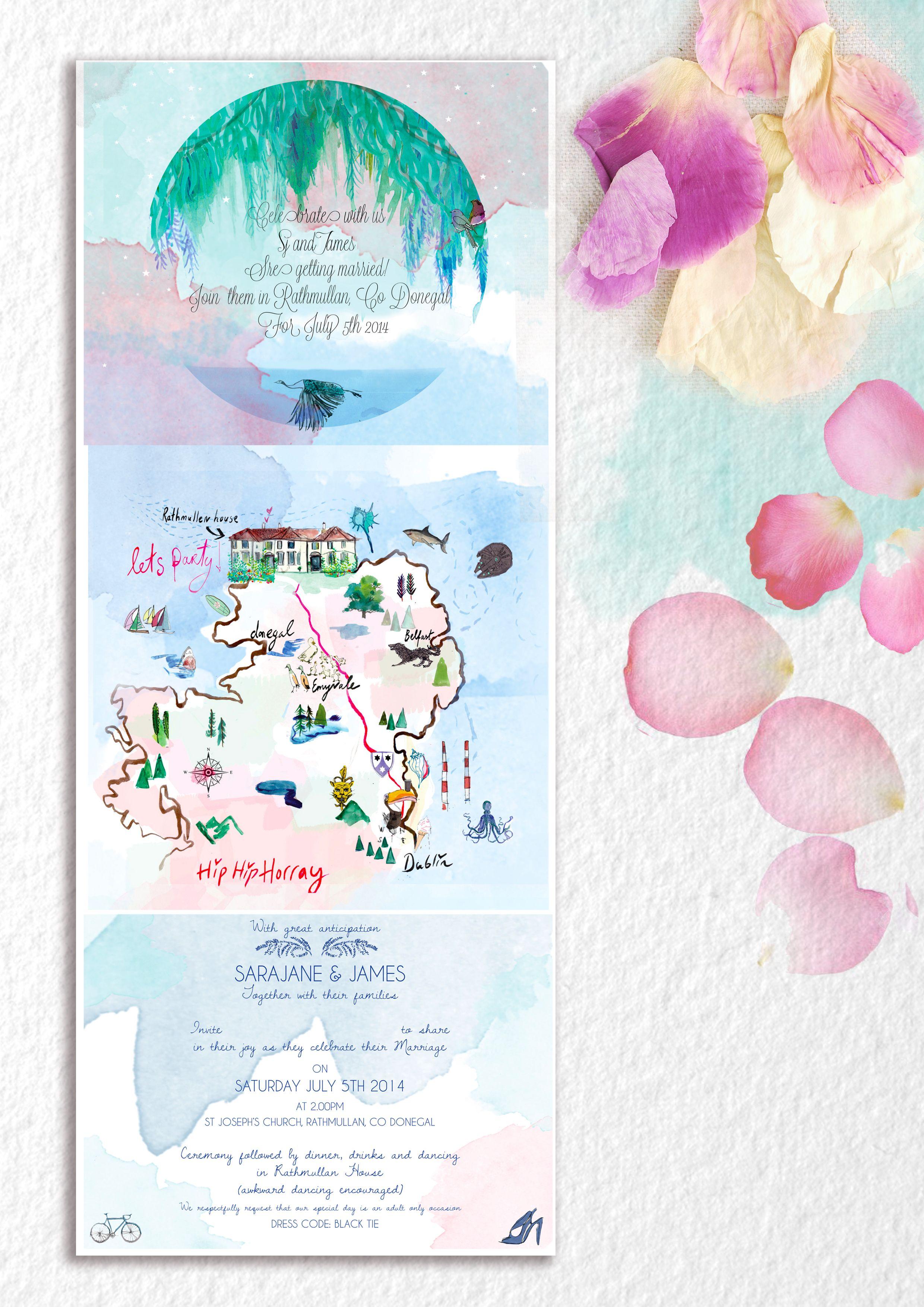 watercolour #invitation #wedding #bespoke   Wedding Invitations ...