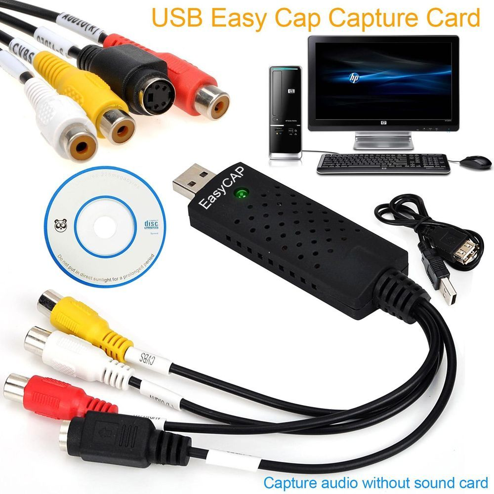 USB 2.0 EasyCap Audio Converter Video Adapter Capture Card for Windows Tip