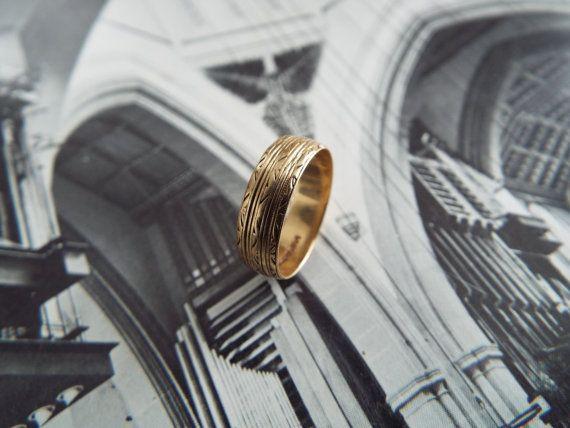 Vintage anneau/or anneau/or par ErieCanalCollectors sur Etsy