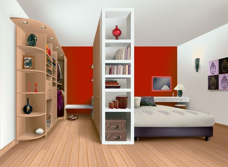 Awesome Room Divider (closet) Like The Bench In The Closet And The Illusion Of A  Walk In Closet