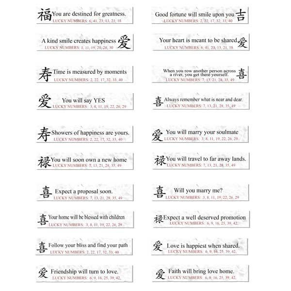 This is a picture of Gutsy Printable Fortune Cookie Sayings Pdf
