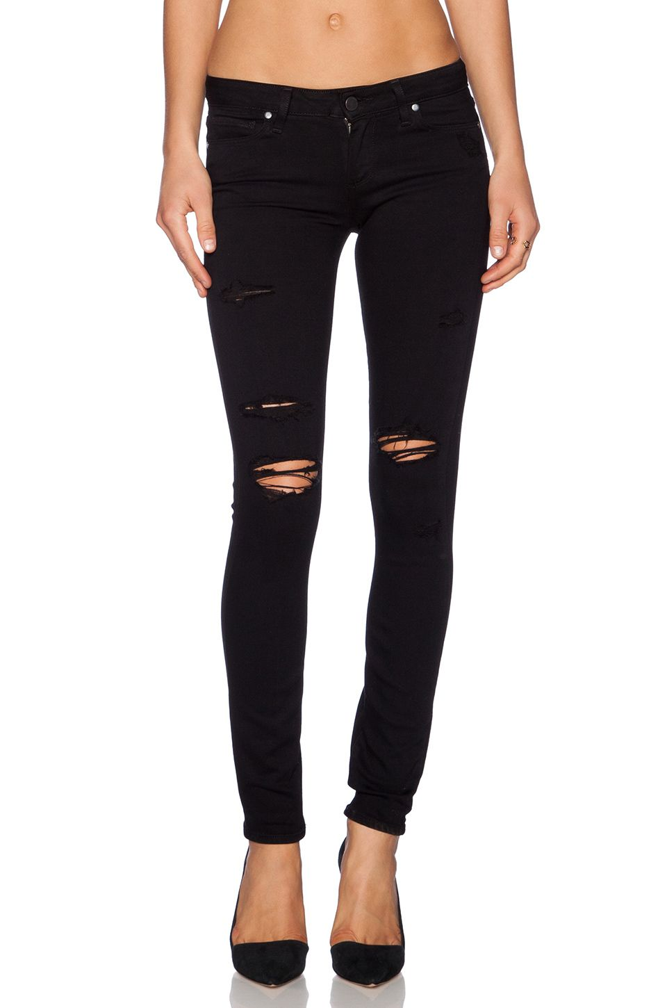 5c8c4f8d5ec0d Paige Denim / Verdugo Ultra Skinny in Black Shadow Destructed ...