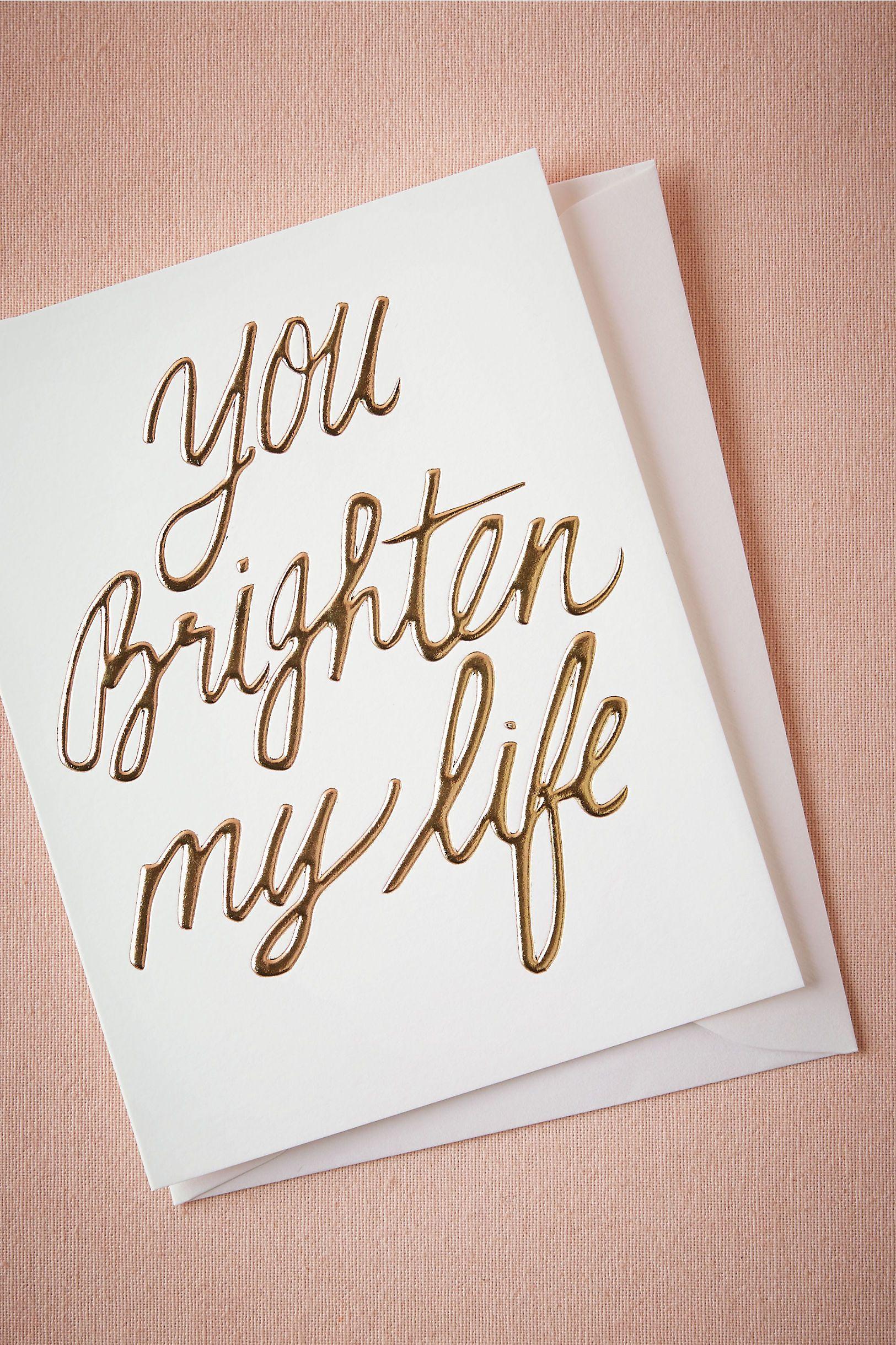 You Brighten My Life Card From At Bhldn Groom Groomsmen Attire