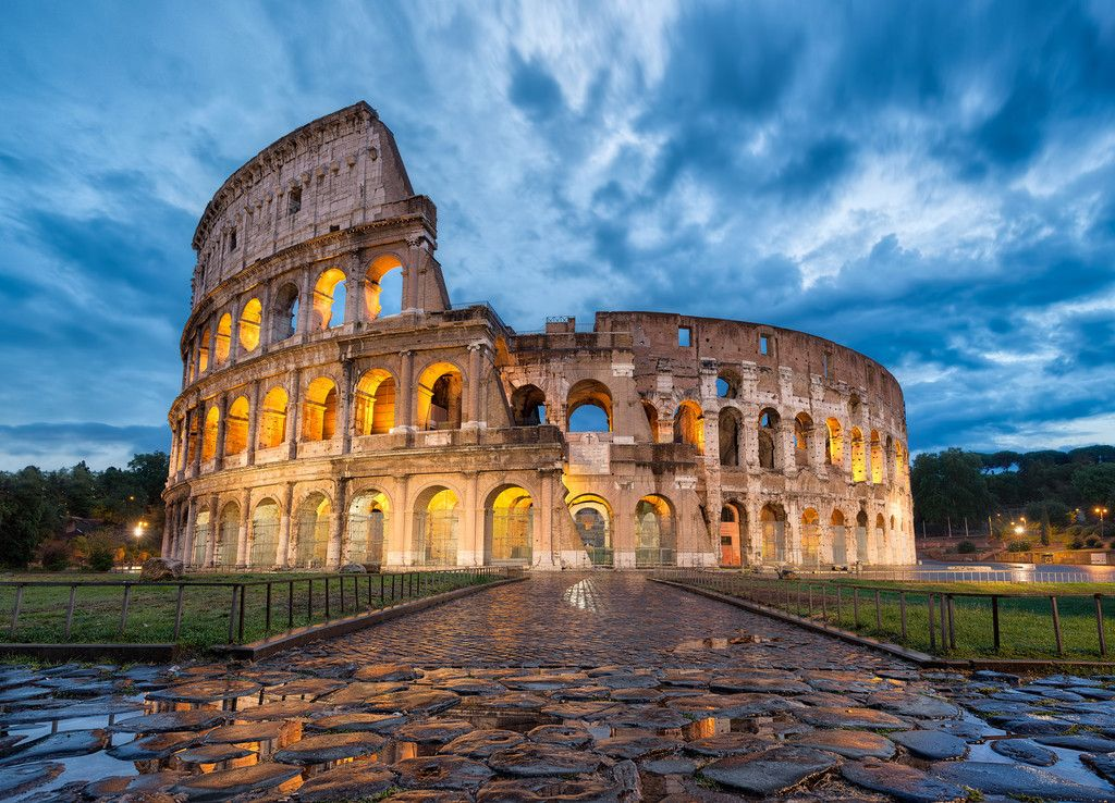 Perfect Ancient Roman Architecture Colosseum Italy Landmark Inside