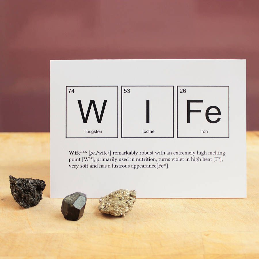 Wife or husband funny valentines card anniversaries