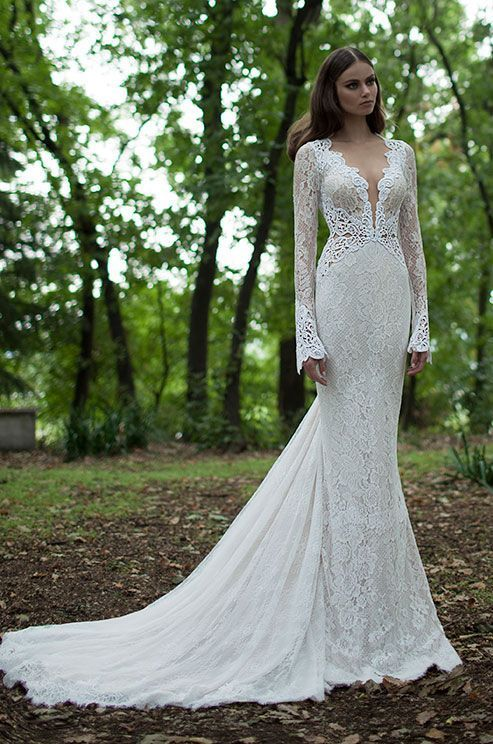 Wedding dress with lace sleeves 2018 form