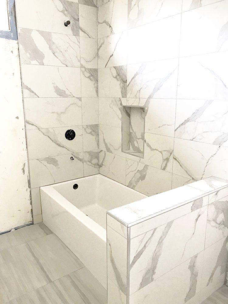 tub shower combo bathtub tile