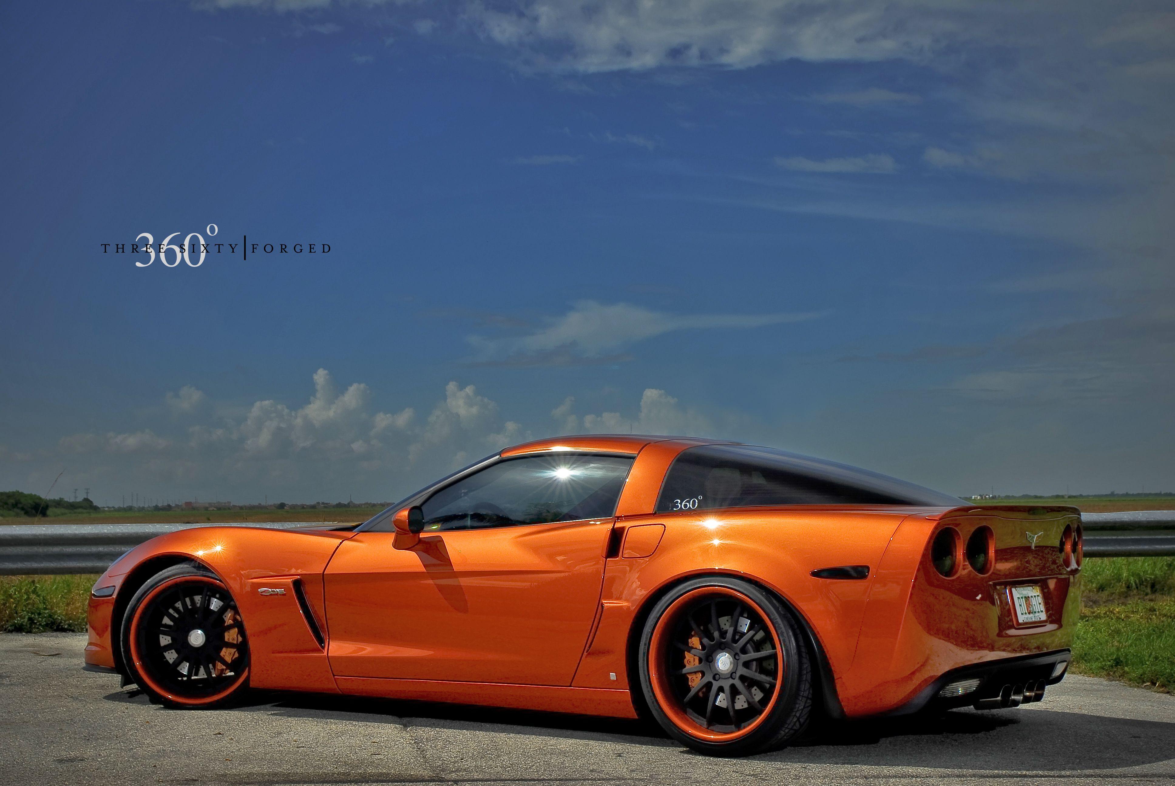 Corvette Z06 On 360forged Black Orange Lip Jpg 3872 2592 Chevrolet Corvette Corvette Corvette America