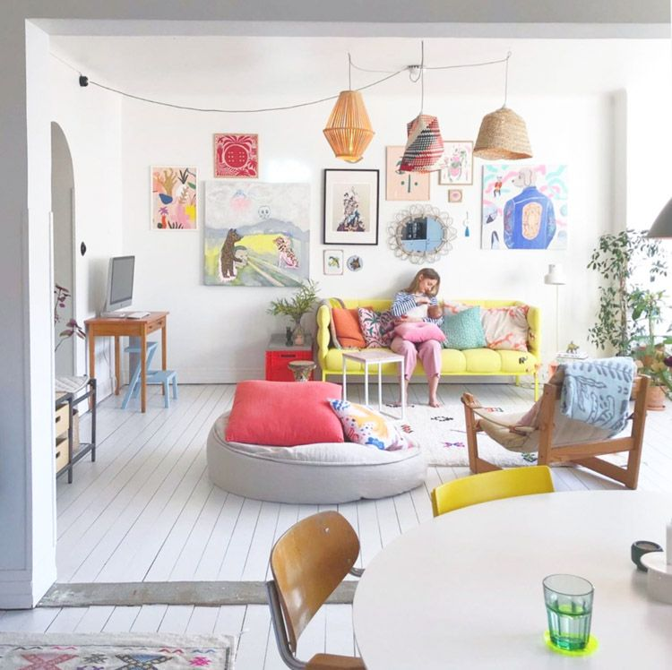 A Cheerful Swedish Home With A Tropical Scandinavia Theme In 2020 My Scandinavian Home Scandinavian Home Open Space Living