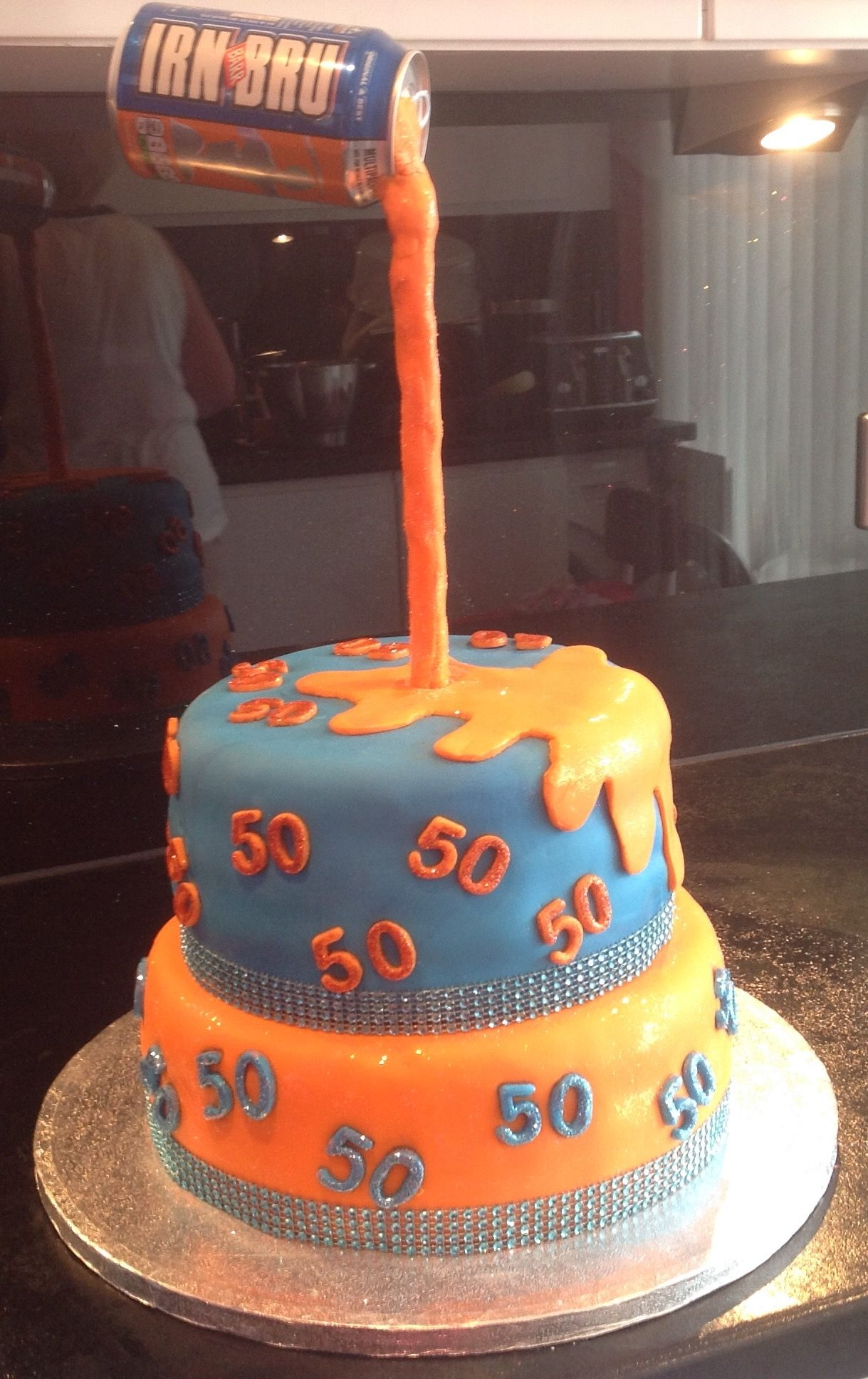 Gravity Defying 50th Irn Bru Cake Glasgow Pinterest Irn bru