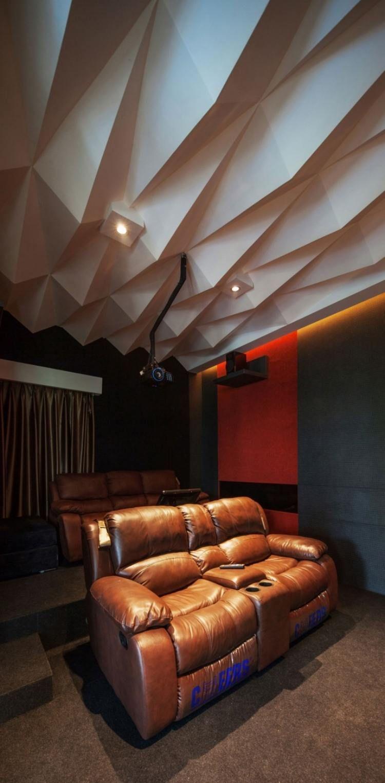 faux plafond design en 3D tte de