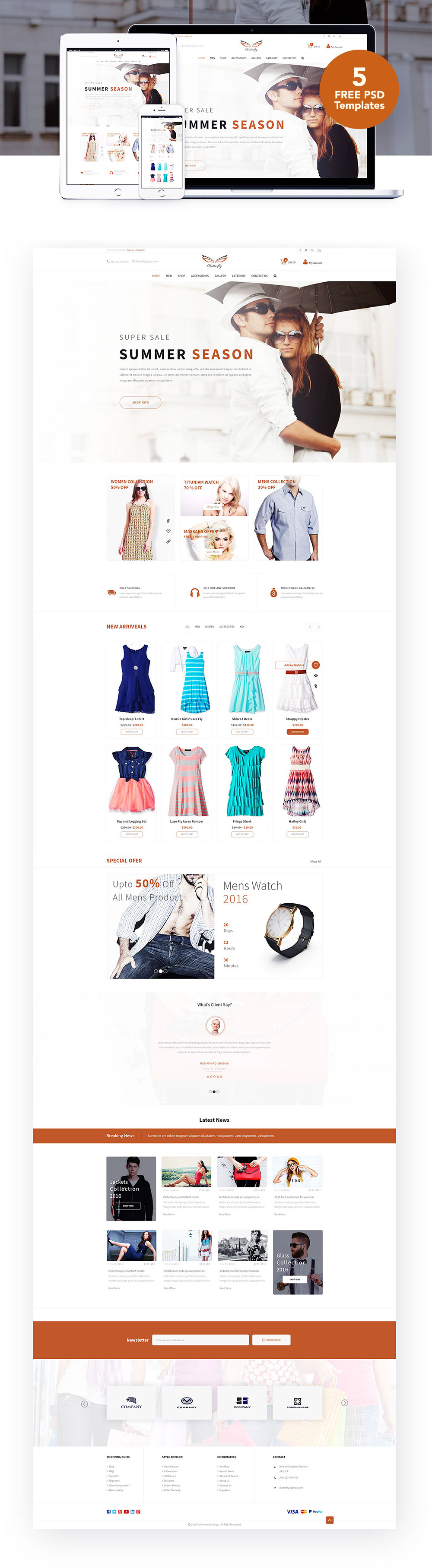 Cool Fashion Ecommerce Website Templates Free Psd Download Fashion