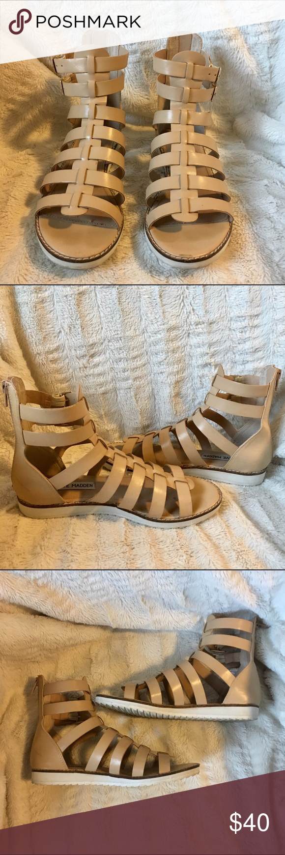 Steve Madden sandals size 6 Worn once in great condition Steve Madden Shoes Sandals