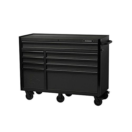 Husky 52 In 9 Drawer Industrial Roller Cabinet Tool Chest In Textured Finish H52tr9hd Mobile Workbench Tool Chest Drawers