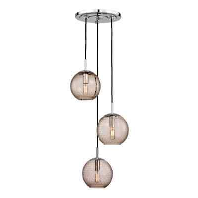 Hudson valley lighting rousseau 3 light wide pendant with glas find this pin and more on lamps lighting and ceiling fans