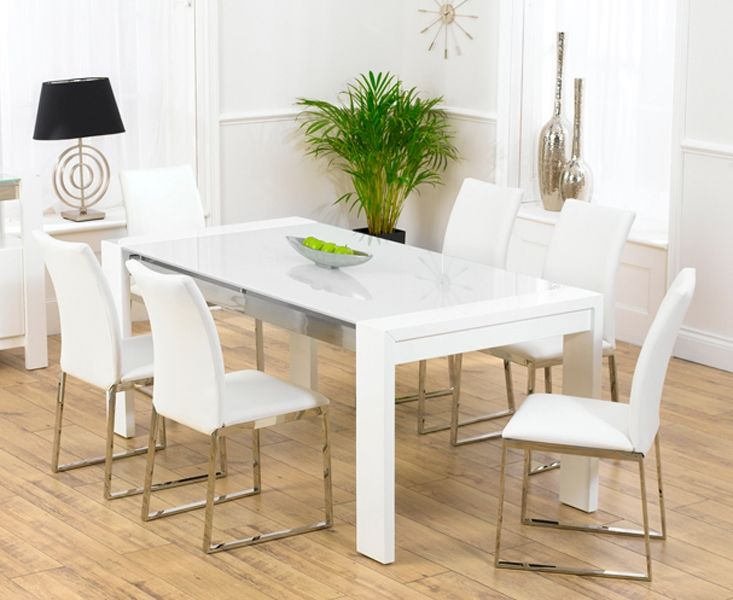 Modern dining room sets for sale home interior design for White kitchen dining chairs