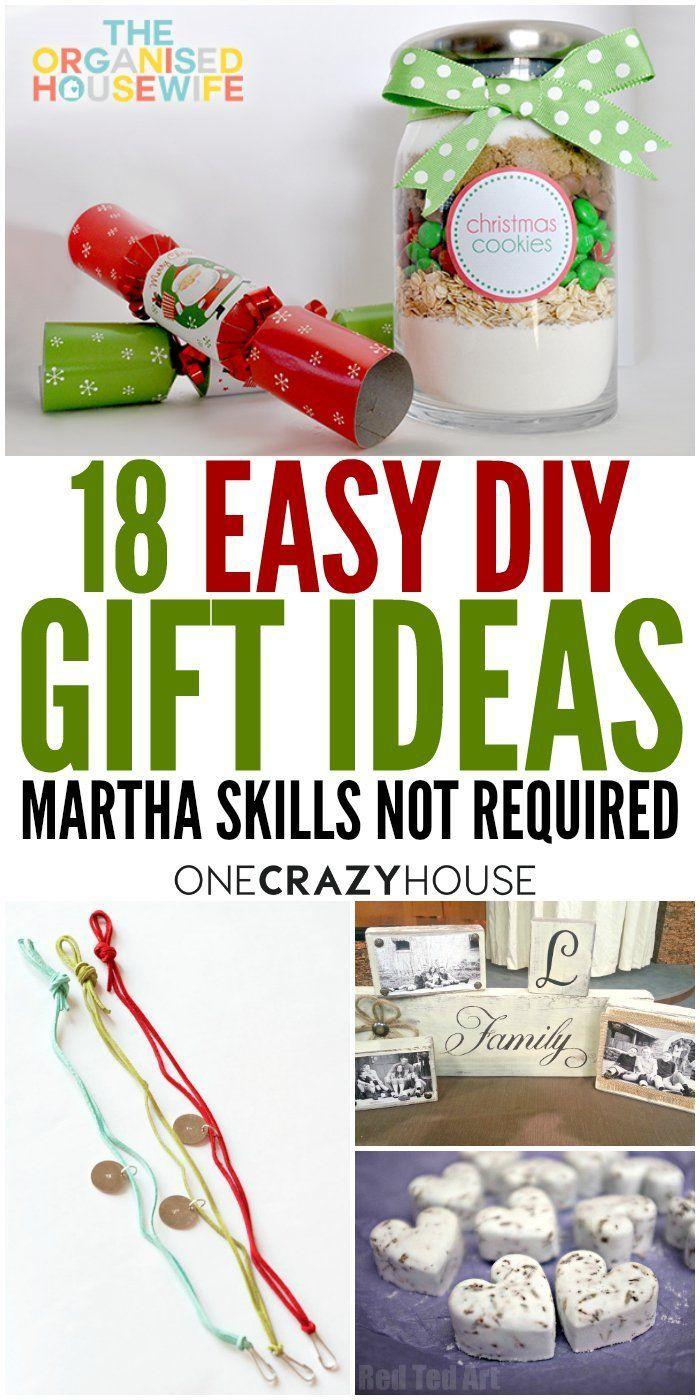 18 Easy DIY Gift Ideas - Martha Skills NOT Required | Life Hacks ...