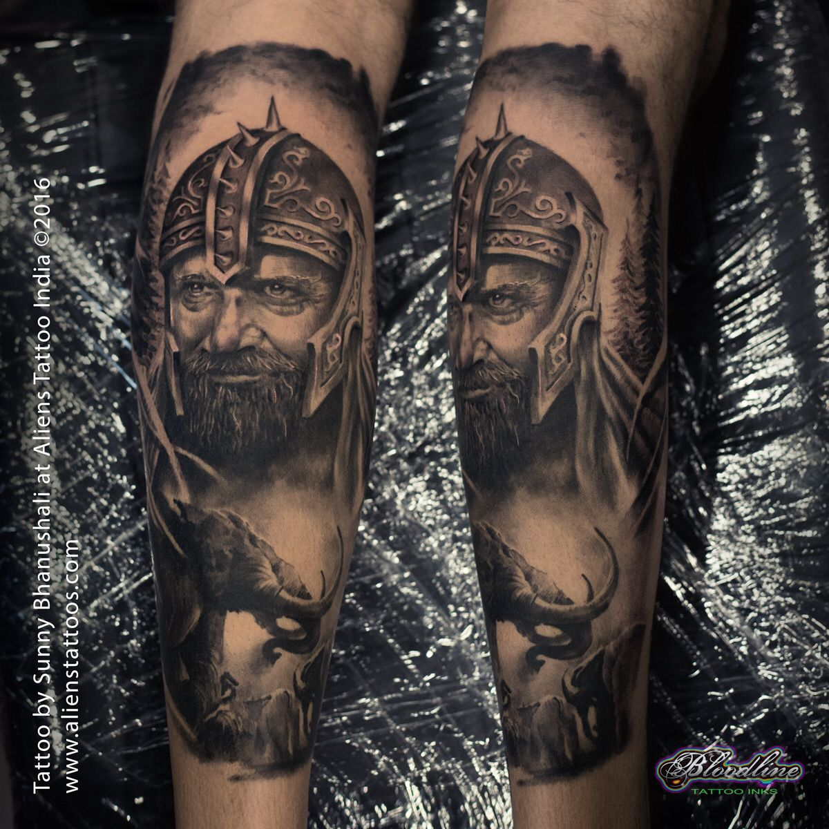 Best Tattoo Studio In Mumbai India: Medieval Warrior Tattoo By Sunny Bhanushali At Aliens
