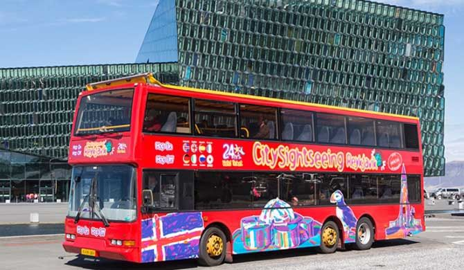 City Sightseeing Reykjavik Hop On Hop Off Bus Tours With The Best Of Both Worlds A Modern Trendy And Forward Lookin Sightseeing Culture Travel Reykjavik