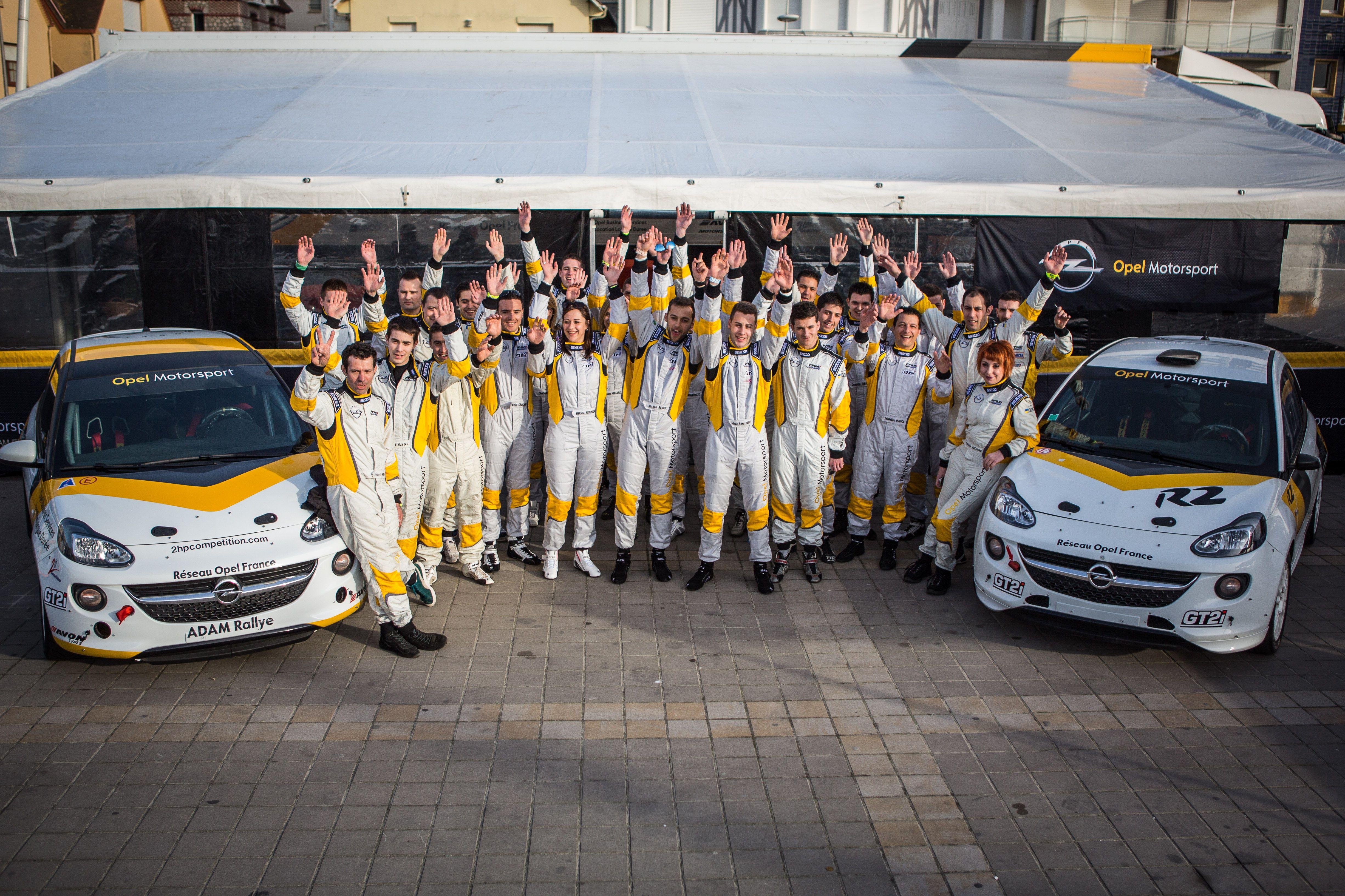 L'équipe Opel Adam Cup 2015
