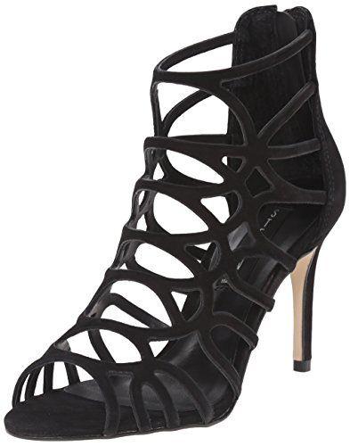Steve Madden Women's Tana Dress Sandal in Black Nubuck - http://www.