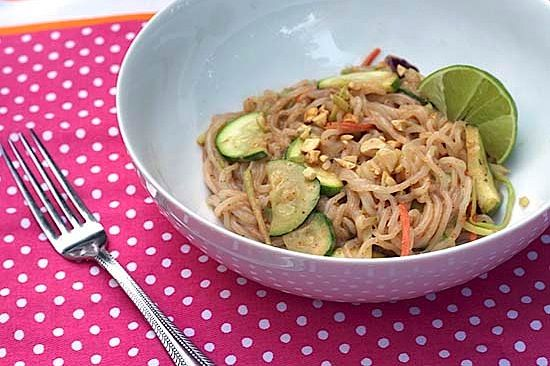 """Zero Calorie """"Nooodles"""" with Spicy Peanut Sauce… For One #dinnwe"""
