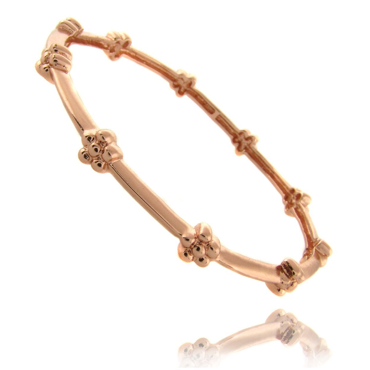 Molly and emma rose k gold overlay childrenus flower bracelet