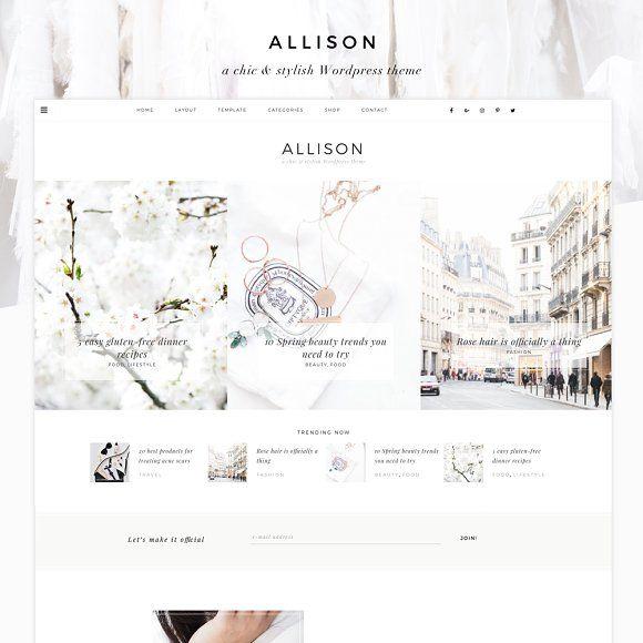 Allison - Wordpress Theme by Eclair Designs on @creativemarket