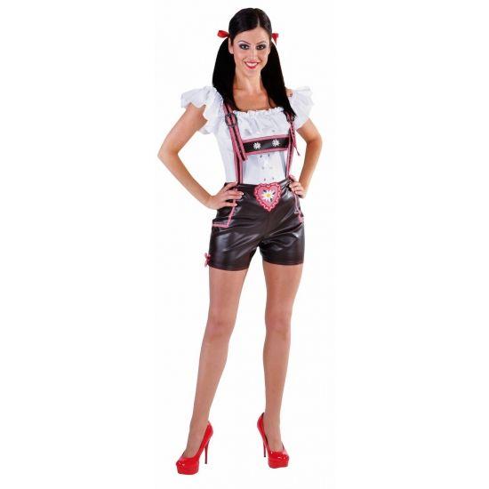 Bruine luxe Tiroler hotpants voor dames Luxe Tiroler hotpants voor dames. Bruine Tiroler lederlook hotpants met bretels voor dames. Luxe kwaliteit. EUR 57.95 Meer informatie