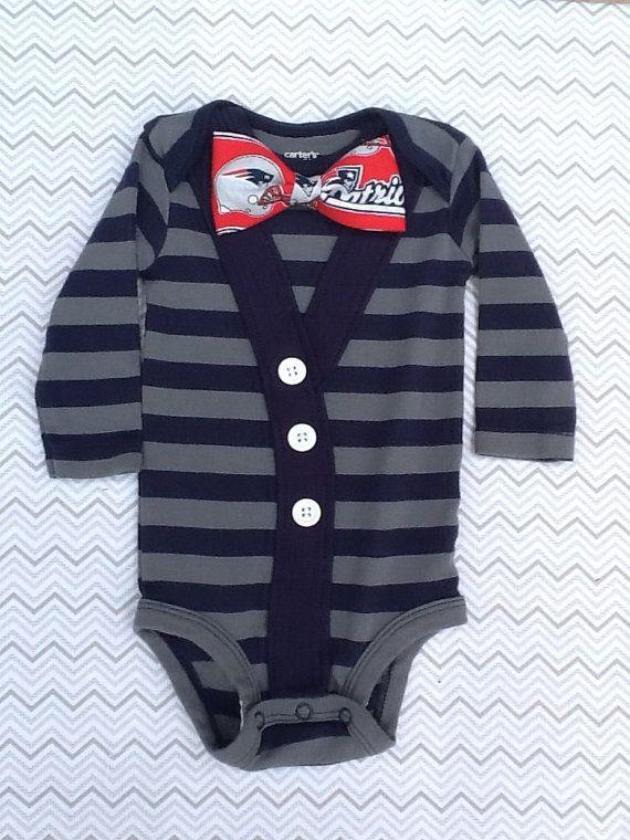 best service 69fb7 68db4 SUMMER SALE - Baby Boy New England Patriots Cardigan Onesie ...