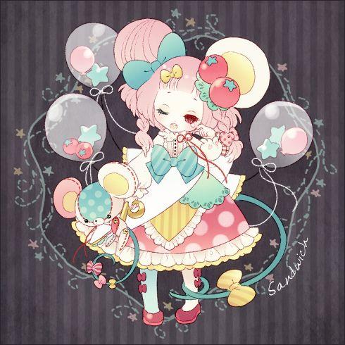 Sleepy Mouse Girl Art Kawaii Art Cute Art Kawaii Anime