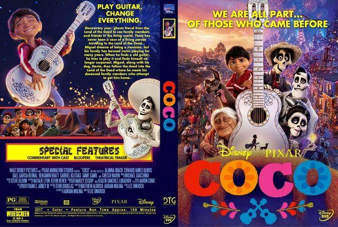 Coco 2017 Dvd Custom Cover Custom Dvd Cover Designs