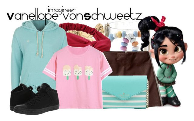 Vanellope vonSchweetz (Wreck-it-Ralph) by claucrasoda on Polyvore featuring polyvore fashion style Element Abercrombie & Fitch Converse Kate Spade Marc by Marc Jacobs RALPH BackToSchool