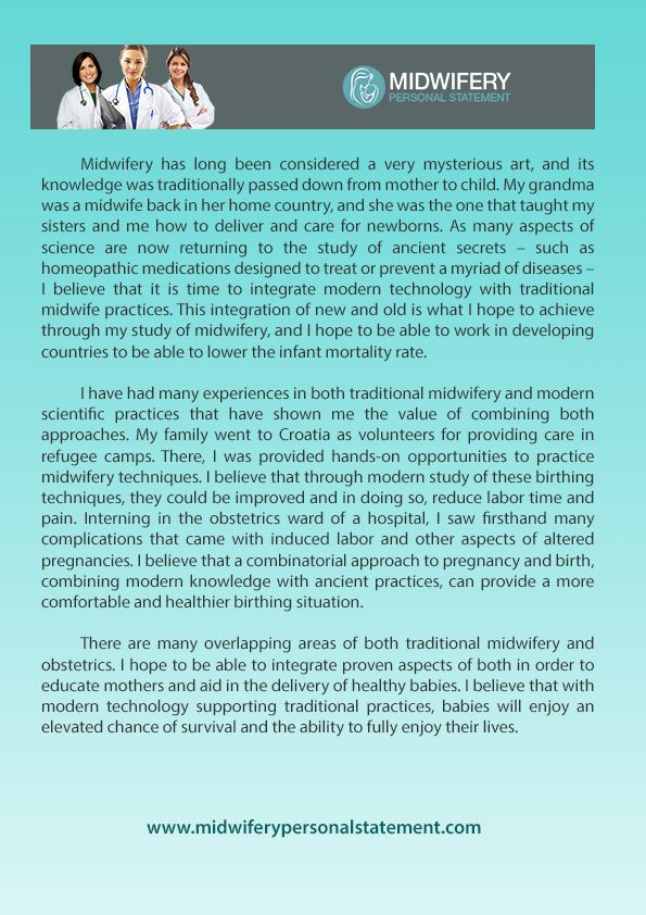 Midwifery personal statement
