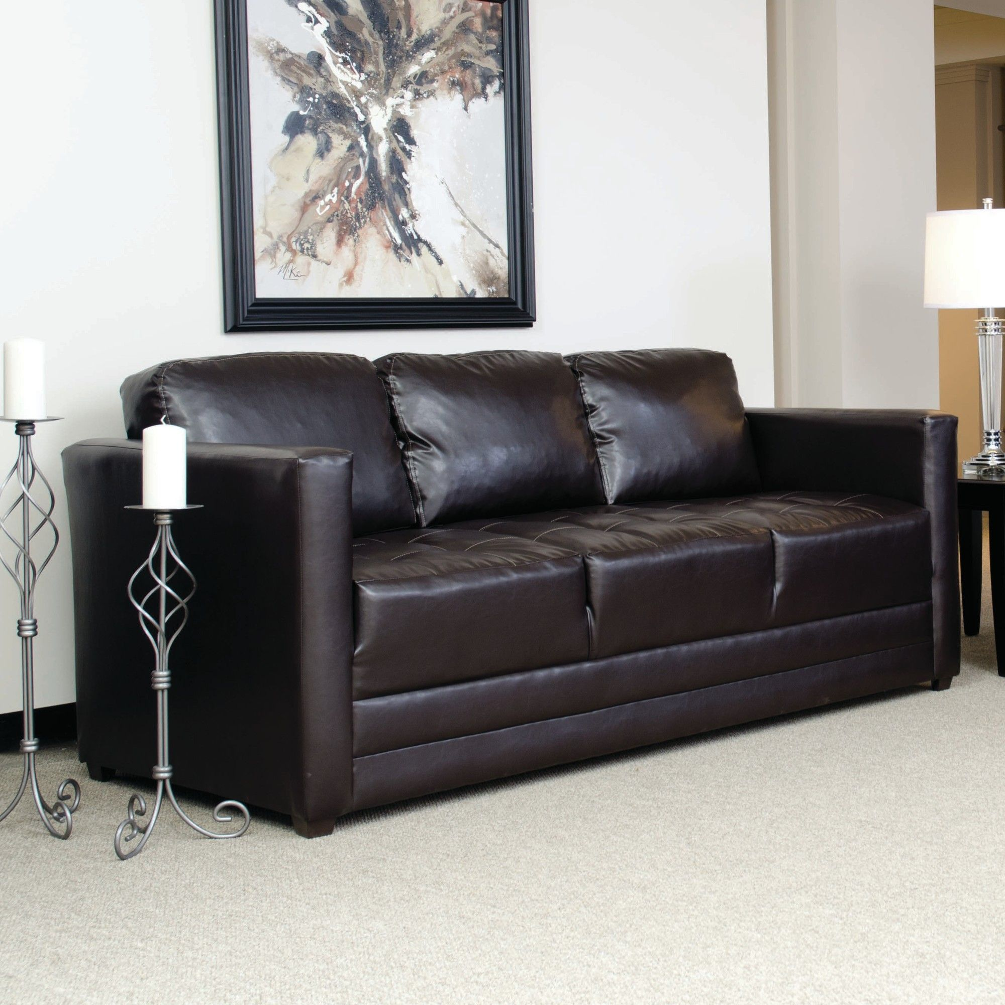 Serta Upholstery Harry Leather Sofa & Reviews