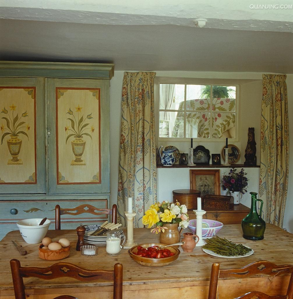 Country Cottage Style Dining Rooms: Country Cottage Decor, English