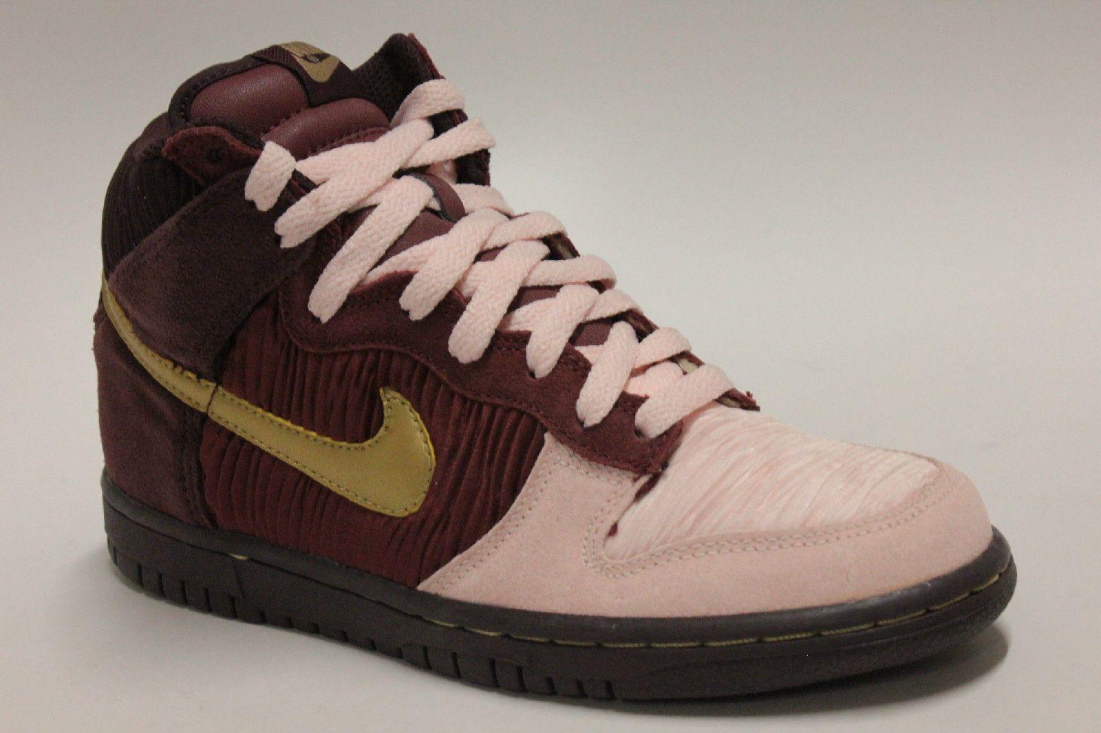 6deaa28e2a Nike Dunk High GS Deep Burgundy Gold Aluminum Pink Big Kids Sneakers 316604  671 | eBay