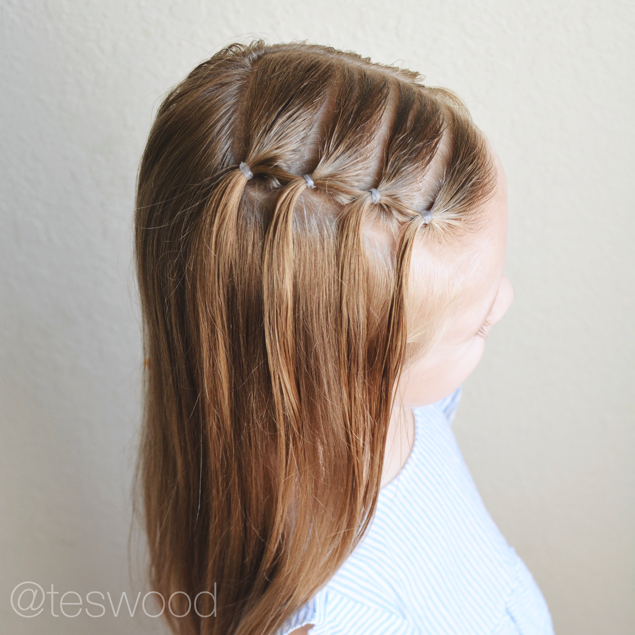 Waterfall Elastic Style Toddler Hairstyle Teswood Hair Styles Girl Hair Dos Toddler Hairstyles Girl