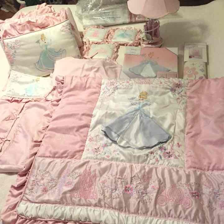 Disney Baby Cinderella Crib Bedding Set Mercari Anyone