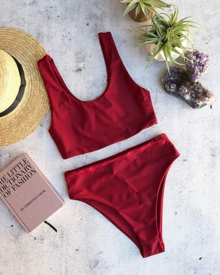 10ce0271e01cd Reverse - lean on - high waisted bandeau bikini set - more colors in ...