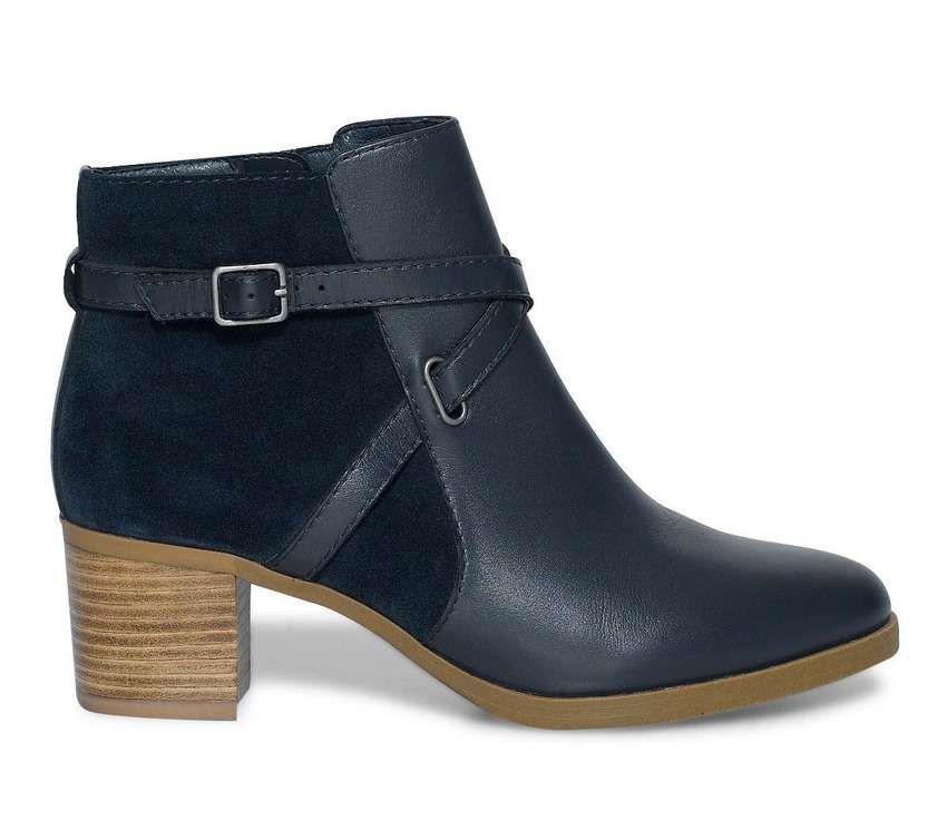 boots à talons bleu marine - Coloris   bleu marine - Dessus   cuir ... f12a78aace9