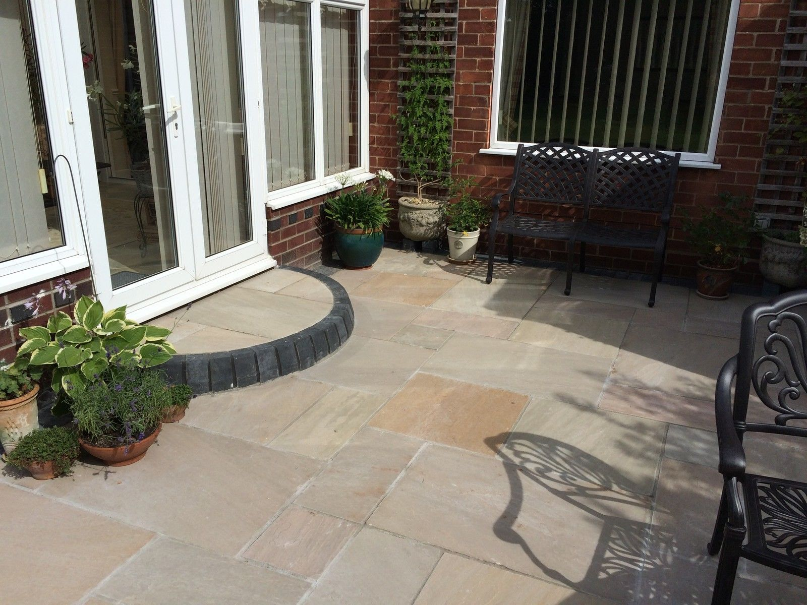 Indian Sandstone Paving  Natural Stone Patio Flags  Garden
