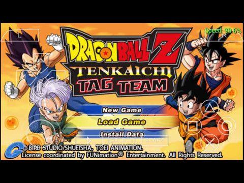 iso dragon ball tag team psp