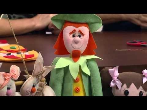 Mulher.com - 07/03/2016 - Boneca Emília em feltro - Carmen Silvia PT2 - YouTube