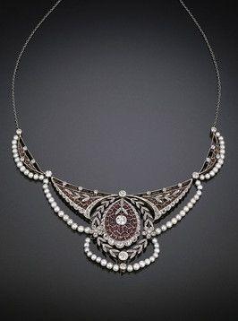 Edwardian Plique-à-Jour #Necklace  #antique #antiques #jewelery