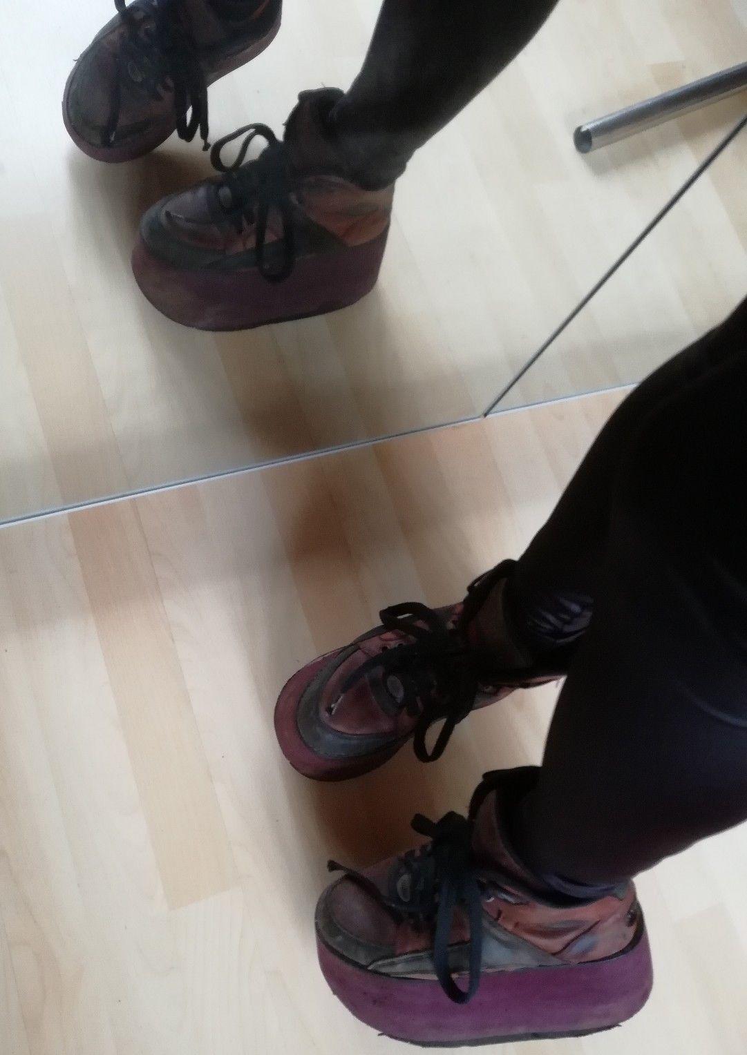 Buffalo Tower Platform Sneaker 37 Kult Rot Schwarz