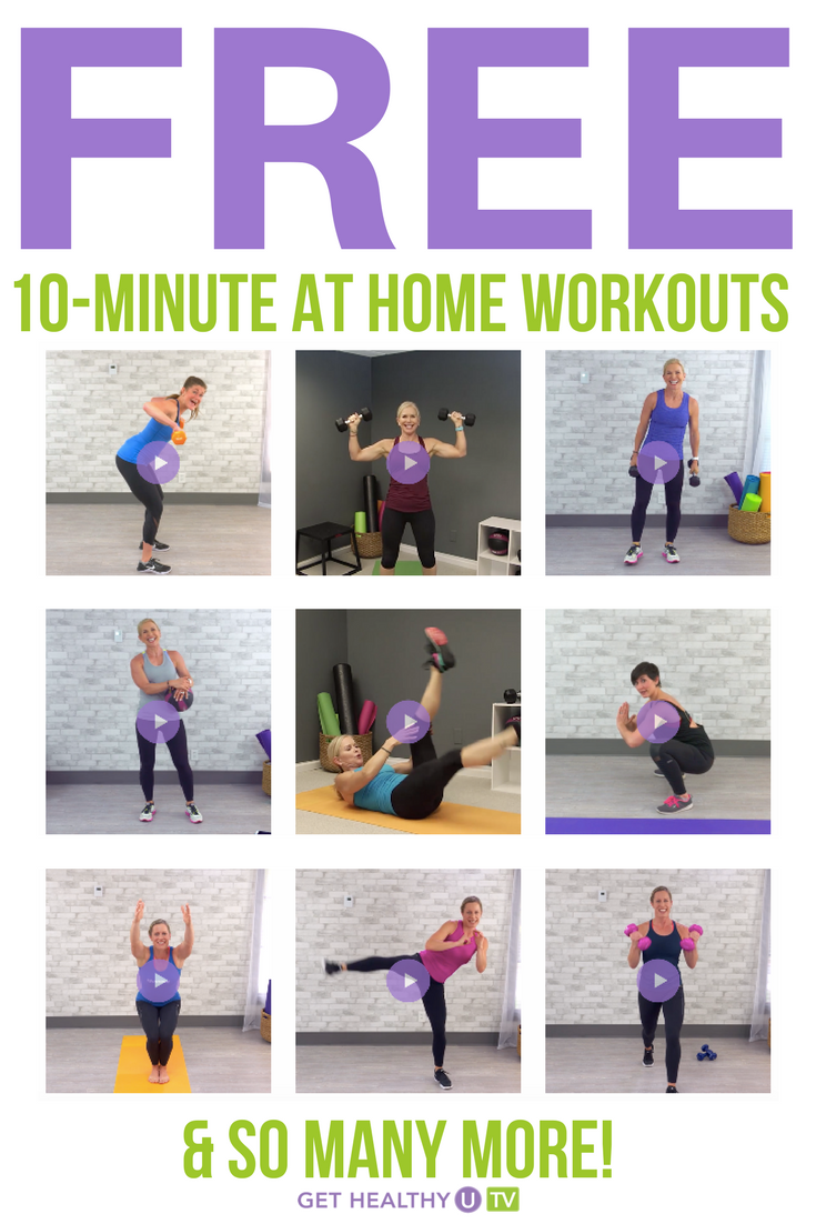 Have you tried one of our FREE 10 minute at-home workouts?! Check them out here! #athomeworkouts #gethealthyu #chrisfreytag #quickworkouts #10minuteworkouts #freeworkouts