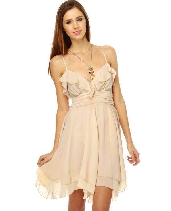 beige dress - Google Search | Bridesmaid Dresses | Pinterest ...